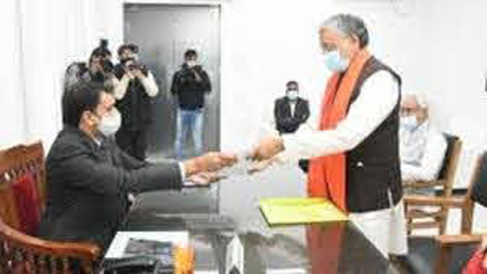 Sushil Modi files nominations for Bihar Rajya Sabha by-poll