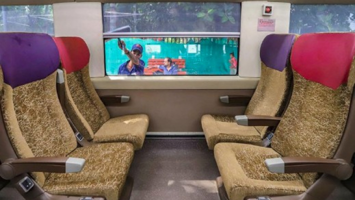 Bottle crushers, deep freezer, revolving seats among many features in Vande Bharat Express