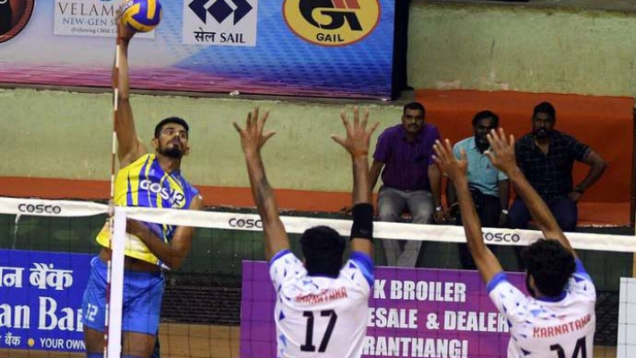 Kerala defeats Karnataka in national volleyball