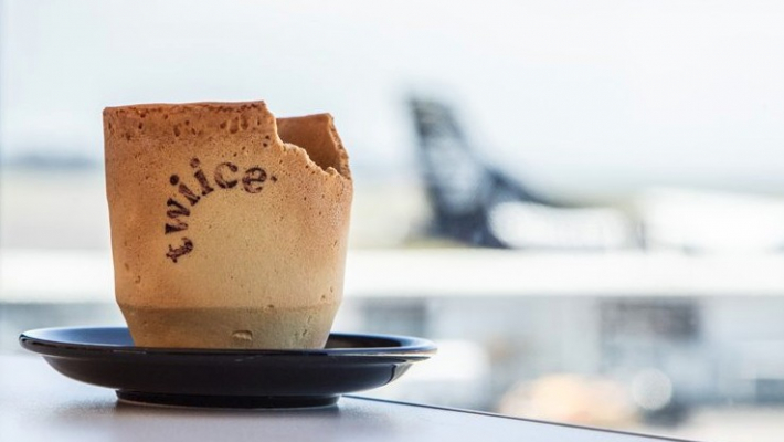 NZ airline trials edible coffee cups to reduce waste