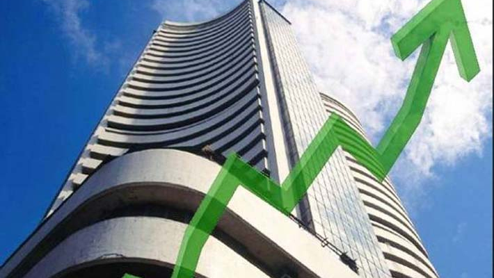 Sensex rises over 200 points, Nifty above 10,550