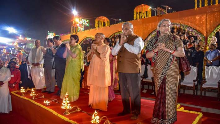 Korean First Lady wearing saree for Diwali delights people of Ayodhya; PM delighted