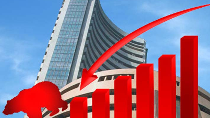 Sensex drops over 200 pts; Tata Motors tanks 14 pc