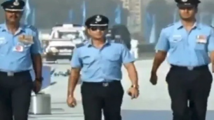 Group Captain Sachin Tendulkar attends 87th IAF Day parade