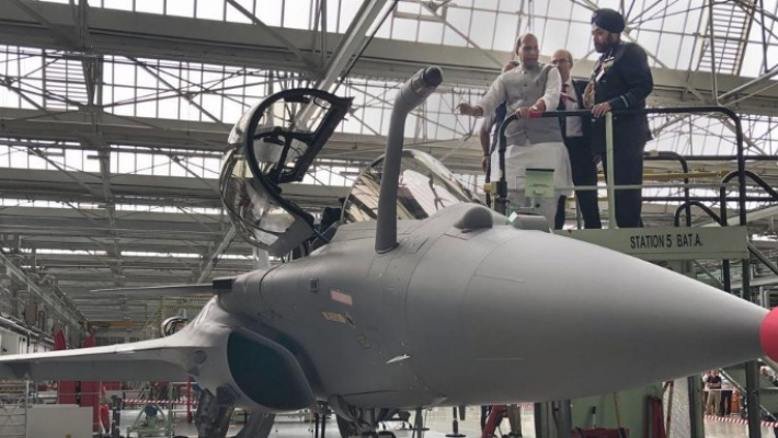 India receives first Rafale fighter in France on Dussehra