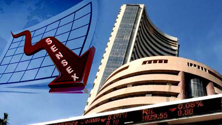 Sensex drops over 100 pts as Moody's cuts India outlook