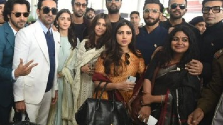 Ranveer, Alia and other Bollywood stars meet PM Modi