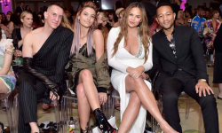 Jeremy Scott, Paris Jackson, Chrissy Teigen, John Legend attend the Daily Front Row's awards show