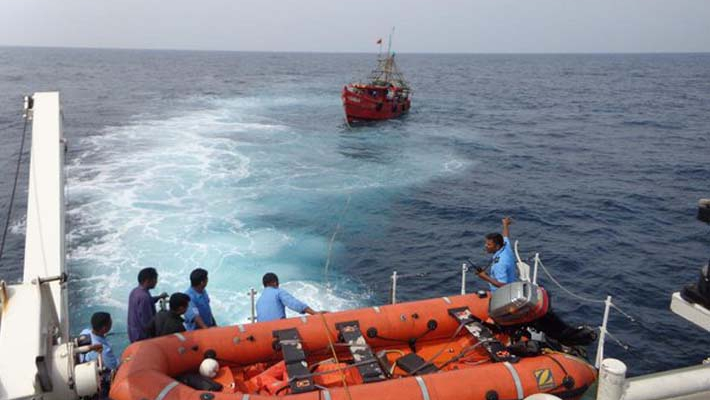 Six fishermen rescued from sinking vessel off Kerala coast