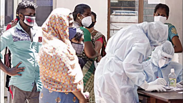 Protesting locals resist and spat on COVID control health workers near Kerala capital