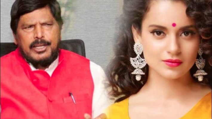 Union minister Athawale meets Kangana in Mumbai