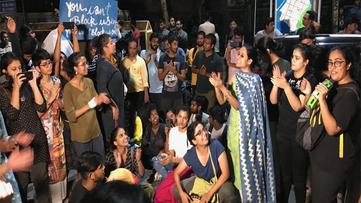 Demanding curfew-less nights for women's hostels, Delhi Universitya students to protest again