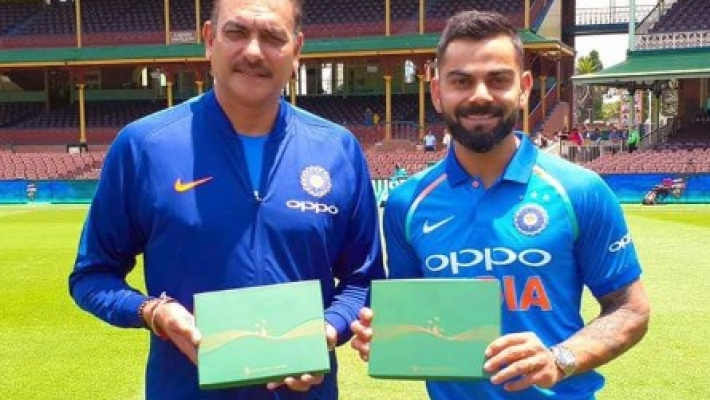 Kohli and Shastri receive honorary membership of SCG