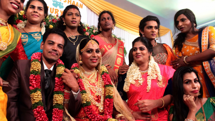 In a first, Kerala trans couple get married in a traditional ceremony