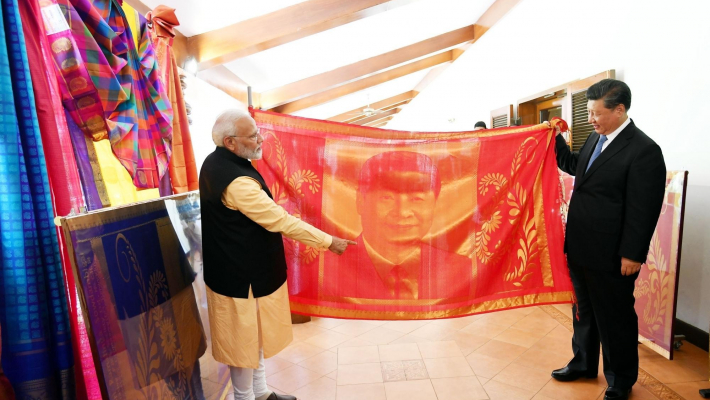 Modi gifts Xi large portrait woven in silk
