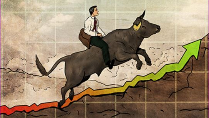 Sensex surges over 200 pts, Nifty above 10,500
