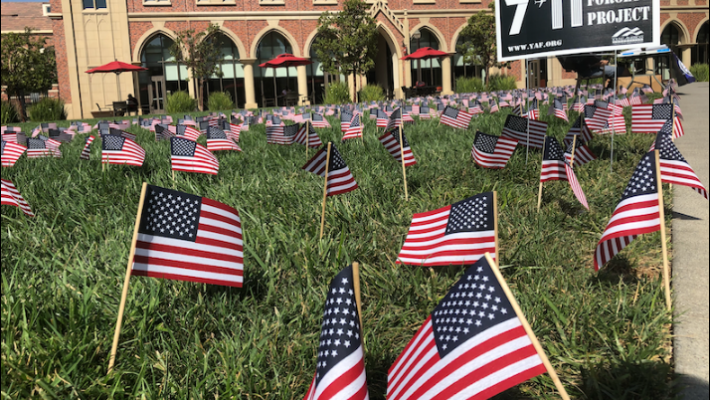 Student removes nearly 3,000 US flags from Sept. 11 display