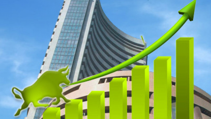 Sensex rises over 200 pts on firm global cues