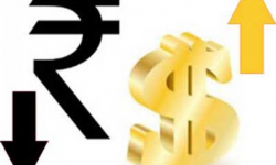 Rupee drops 14 paise against US dollar