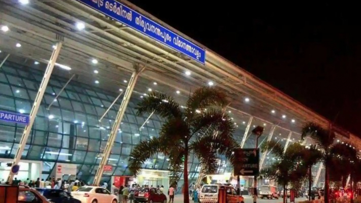 Employees protest at TVM airport against takeover by Adani Group