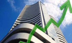 Sensex rises over 100 pts, Nifty above 10,500
