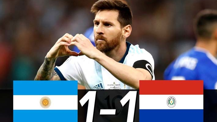 Messi penalty salvages 1-1 draw for Argentina against Paraguay