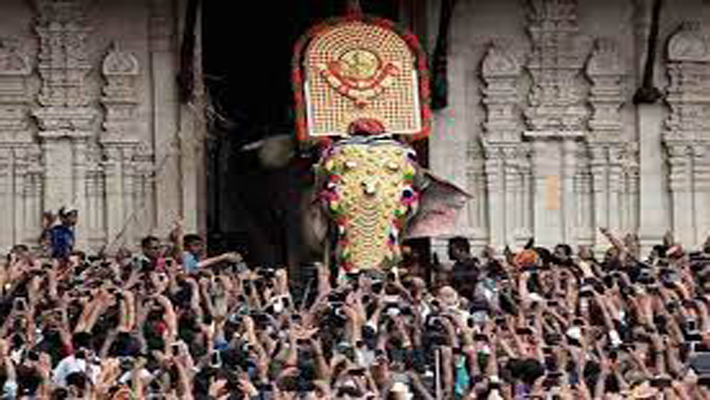 Thrissur Pooram begins adhering to strict COVID-19 protocols