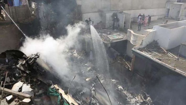 34 dead as Pakistan plane with 107 onboard crashes in residential area in Karachi