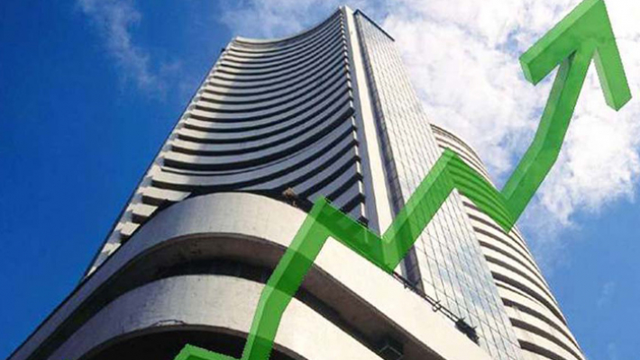 Sensex rises over 100 pts; Nifty tests 11,600