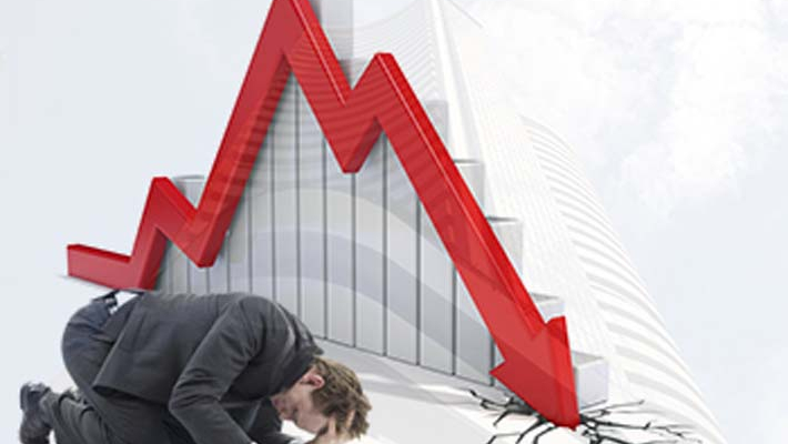 Sensex falls over 100 pts after IMF cuts India's growth outlook