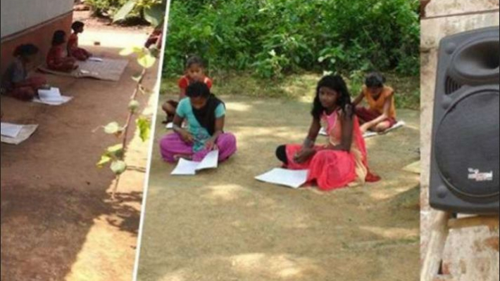 The message is loud and clear; Education sees no barriers as classes go live on loudspeaker in Jharkhand