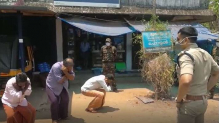 Vijayan, Congress condemn police official for punishing people