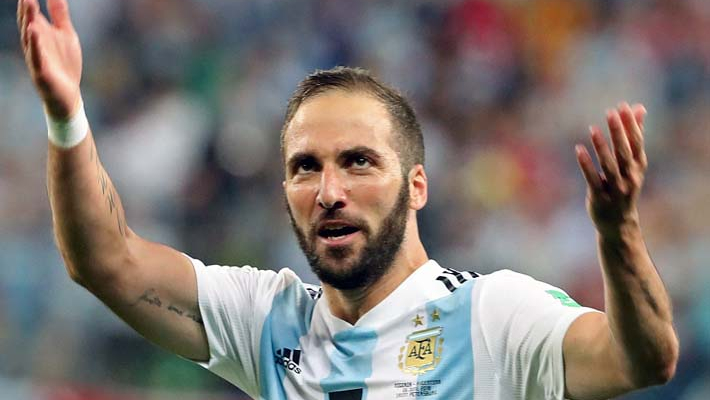 Higuain retires from Argentina duty with message for critics