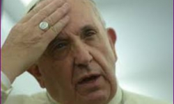 Pope 'ashamed' young to inherit fractured world
