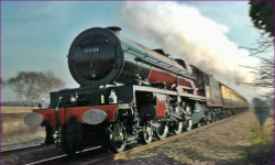 Steam locomotive back on tracks after five years