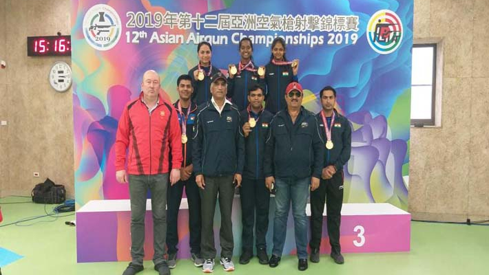 Indian shooters make a clean sweep of gold medals