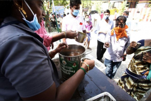 Chennai Government Ayurvedic Medical College distribute herbal syrup to help people stay immune